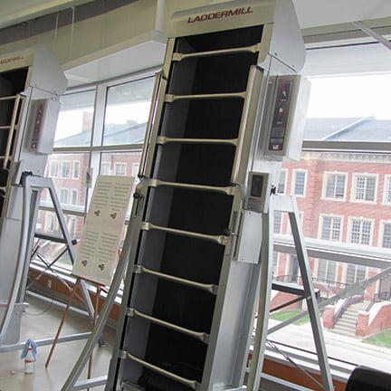 Laddermill, Rotating ladders, Ladder climber, Fitness climbing, Indoor climbing, home climbing gyms, commercial climbing
