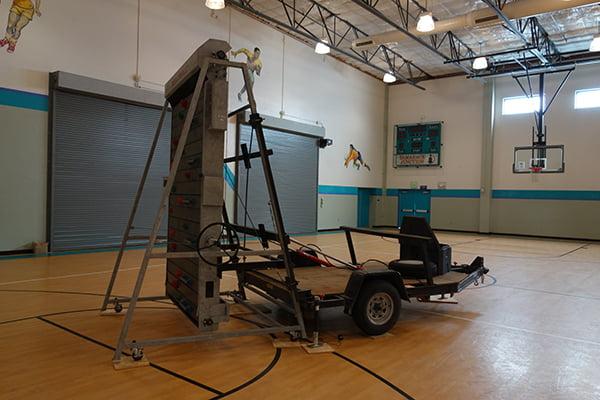 towable Climbing simulators, Climbing walls