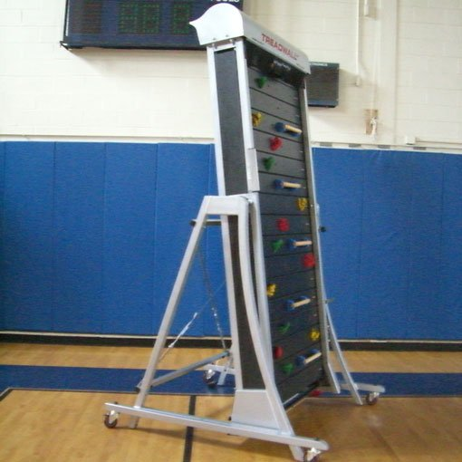 School gym with Treadwall climbing wall
